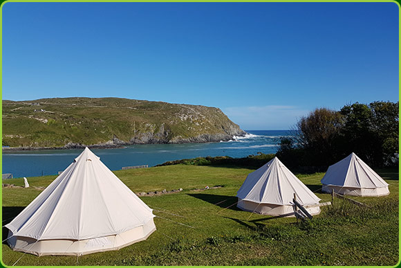 Camping and Glamping site on Cape Clear